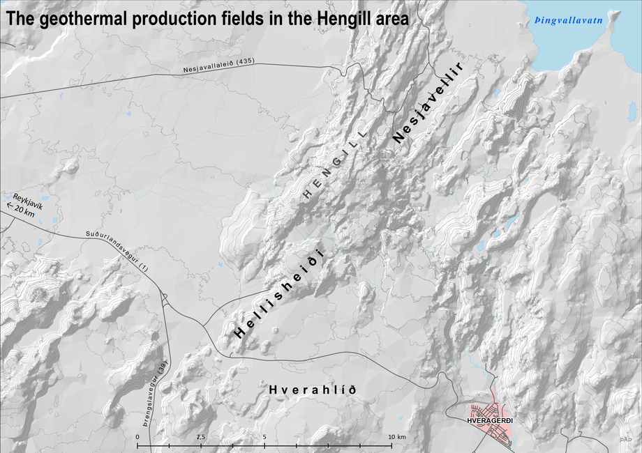 The Geothermal Production Fields in the Hengill Area